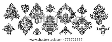 stock-vector-set-of-oriental-vector-damask-patterns-for-greeting-cards-and-wedding-invitations
