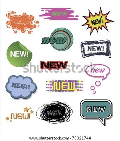Set of original stickers new