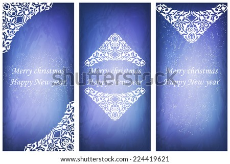set of ornate cards in victorian style eastern floral decor template frame for greeting
