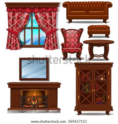 set of ornate furniture in