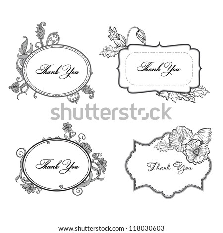 Set of ornate vector frames and ornaments with sample text. Vintage Frame
