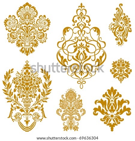 Set of ornate vector ornaments Perfect for invitations or announcements.