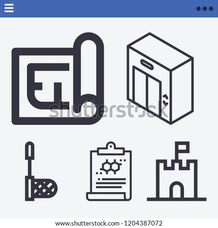 set of 5 other outline icons