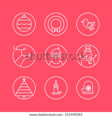 set of outline circle icons