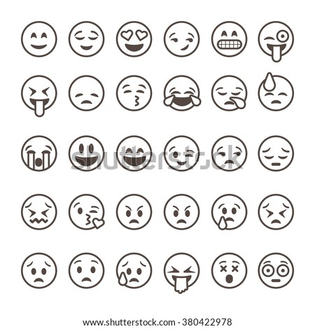 stock-vector-set-of-outline-emoticons-emoji-isolated-on-white-background-vector-illustration