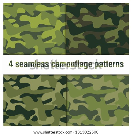 set of 4 pack camouflage