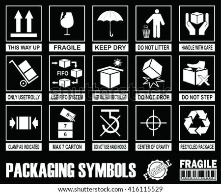 Fragile Warning Symbols Download Free Vector Art Stock Graphics