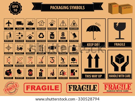 Handle With Care Labels And Icons Download Free Vector Art Stock