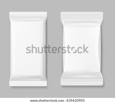 set of packing mockup on a gray