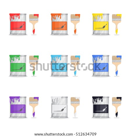 set of paint buckets seven