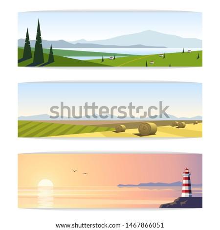 set of panoramic vector