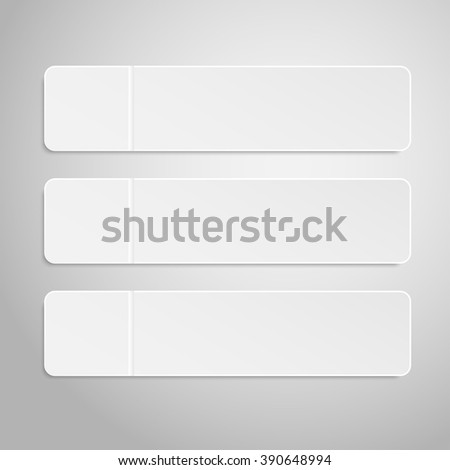 Set of paper banners template for business design, infographics. Vector illustration eps10. #390648994