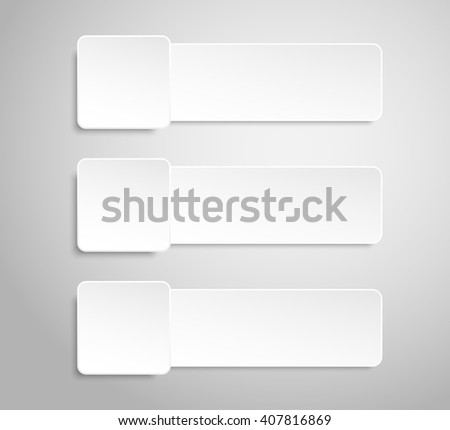 Set of paper banners template for business design, infographics. Vector illustration eps10. #407816869