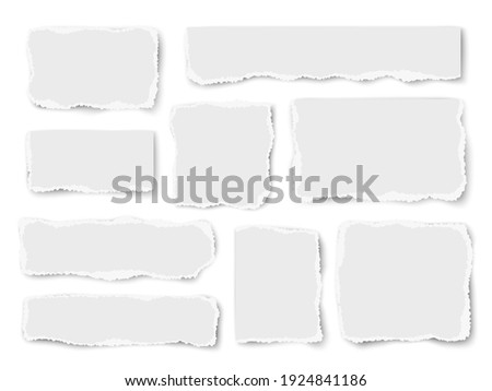 Set of paper different shapes vector scraps isolated on white background. Vector collage. ストックフォト ©