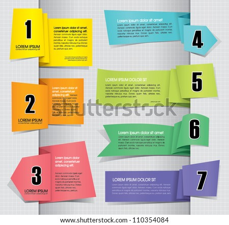 Set of Paper Tag Labels