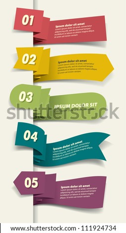 Set of Paper Tag Labels
