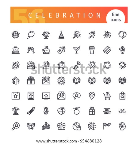 set of 56 party and celebration