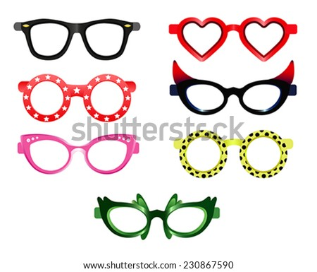 Set of party sunglasses
