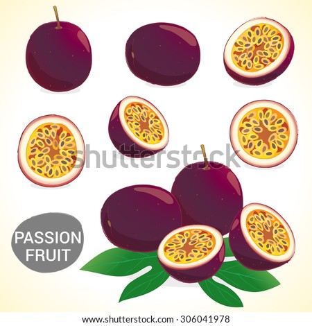 set of passionfruit  passion