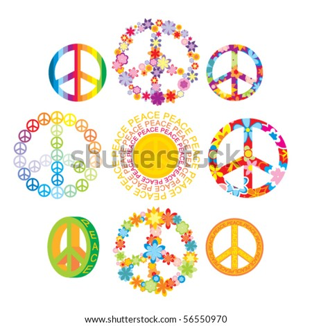 stock vector : set of peace symbols