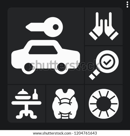 set of 6 people filled icons