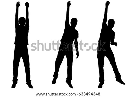 set of people hanging by their hands