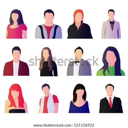 Set of people icons. Vector People icons for your websites, applications and all your ideas.