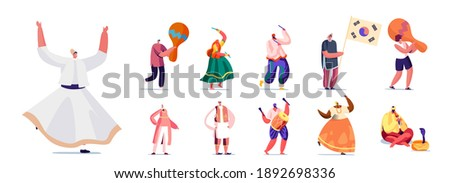 set of people in authentic