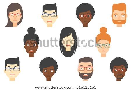 set of people of various