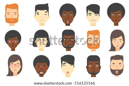 set of people of various