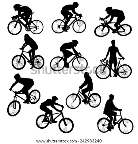 set of people on bikes