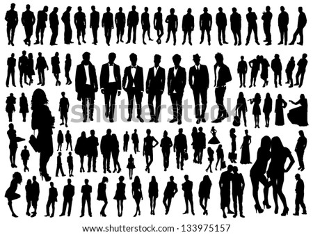 Set of people silhouettes #133975157