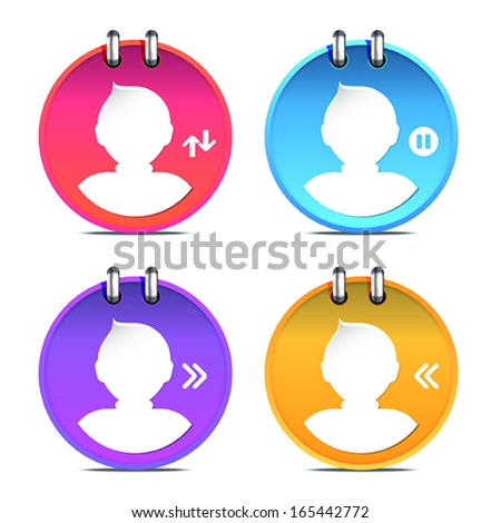 set of Person icon, vector