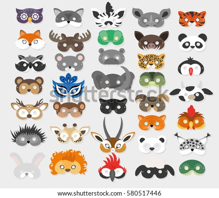 set of photo booth props masks