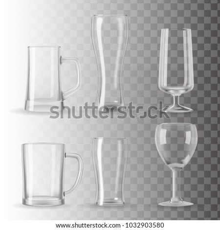 set of photo realistic beer