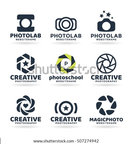 set of photography logo design