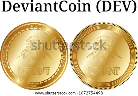 set of physical golden coin