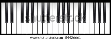 set of piano keys in