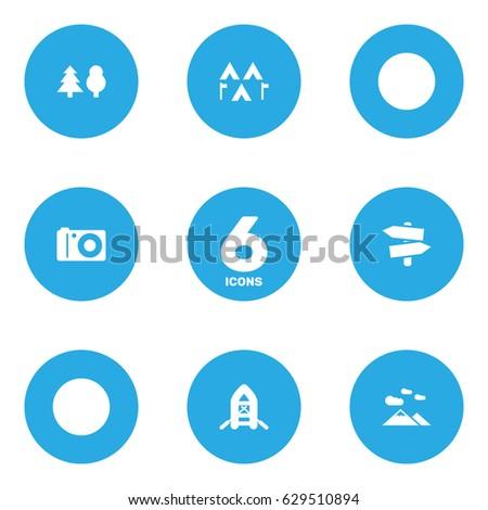 set of 6 picnic icons set