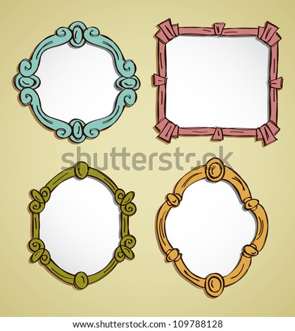 set of picture frame - stock vector