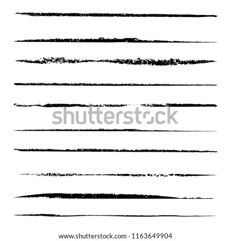 Set of 10 pieces grunge edges.Grunge borders.Vector brush strokes