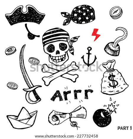 set of pirate attributes for