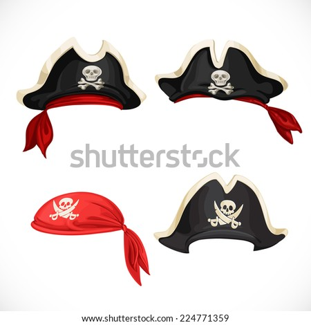 set of pirate hats and bandana