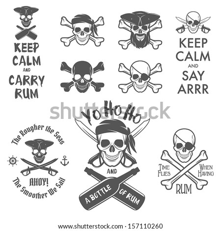 set of pirate themed design