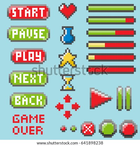 set of pixel elements for
