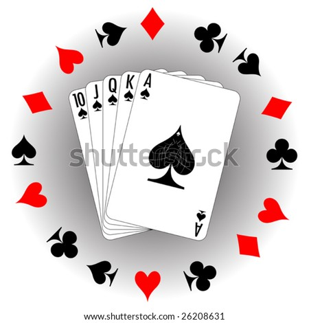 Set of playing cards. To see similar please visit my gallery.