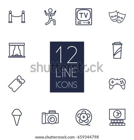 set of 12 pleasure outline