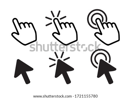 Set of Pointer Icons, Vector Design