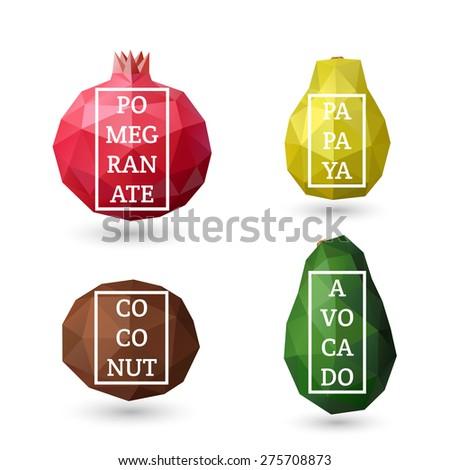 set of polygonal fruit