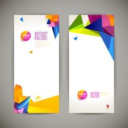 Set of polygonal geometric banners for modern design